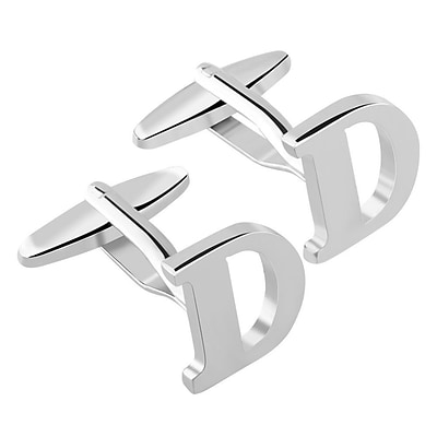 Zodaca Mens Initial D Alphabet Letter Silver Copper Cufflinks Fathers Day Wedding Birthday Party (2128908)