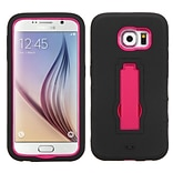 Insten Symbiosis Silicone Dual Layer Rubber Hard Cover Case w/stand For Samsung Galaxy S6 - Black/Re