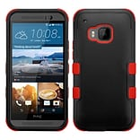Insten Hard Dual Layer Silicone Cover Case For HTC One M9 - Black/Red (2092009)