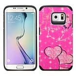 Insten Butterfly/Heart Armor Hard Dual Layer Rubber Silicone Case For Samsung Galaxy S6 Edge - Hot P