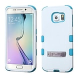 Insten Hard Hybrid Rugged Shockproof Silicone Cover Case with Stand For Samsung Galaxy S6 Edge - Whi