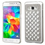 Insten Hard Diamante Cover Case For Samsung Galaxy Grand Prime - Silver (2177038)