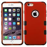 Insten Hybrid 3-Layer Hard PC Outer/Silicone Inner Case for iPhone 6s Plus / 6 Plus 5.5 - Red/Black