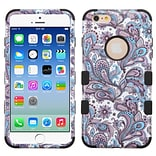 Insten Tuff European Flowers Hard Hybrid Rugged Shockproof Silicone Case For Apple iPhone 6/6s - Pur