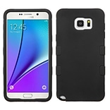Insten Tuff Hard Hybrid Rugged Shockproof Silicone Case For Samsung Galaxy Note 5 - Black (2141682)