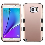 Insten Tuff Hard Dual Layer Rubber Silicone Cover Case For Samsung Galaxy Note 5 - Rose Gold/Black (