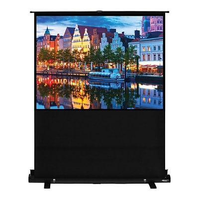 Hamilton Buhl™ AC-7858 Pull Up Portable Floor Rising Video Projector Screen, 100