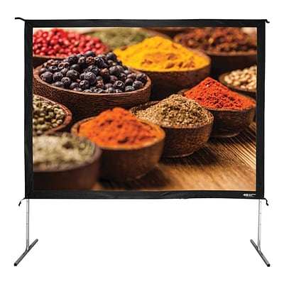 Hamilton Buhl™ BFF-7296 Quick Release Folding Frame Video Projector Screen with Case, 120