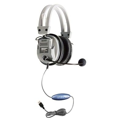 Hamilton Buhl™ HA5USBSM Deluxe USB Headset with Microphone, Gray