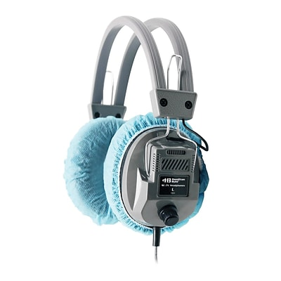 Hamilton Buhl™ HygenX45 Disposable Ear Cushion Cover for Over-Ear Headphones/Headsets, 4.5, Blue, 100/Pack