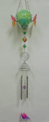 GreatWorldCompany Butterfly Acrylic Solar Light Wind Chime