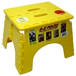 B&R Plastics 1-Step EZ Folds Folding Step Stool w/ 300 lb. Load Capacity; Yellow