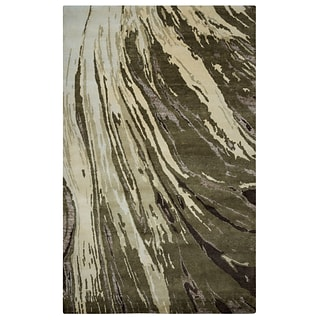 Rizzy Home Avant-Garde Collection New Zealand Wool Blend with Viscose Accents 56 x 86 Brown  (AV