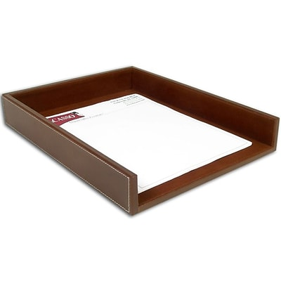 Dacasso  Rustic Leather Front-Load Letter Tray (DCSS032)