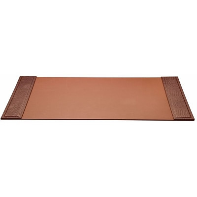 Dacasso  Crocodile Embossed Leather 34x20 Desk Pad with Side Rails (DCSS152)