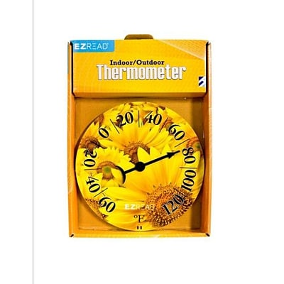 Headwind Consumer Products  8 in. Dial Thermometer with Sunflowers (HCP024)