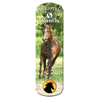 Rivers Edge Large Horse Tin Thermometer (SPTMN5131)