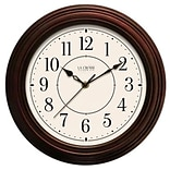La Crosse Technology Ltd 404-2630W 12 in. Faux Wood Wall Clock (TRVAL83924)
