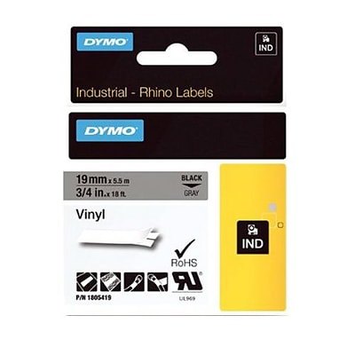 Dymo® 3/4 Thermal Transfer Color Coded Label Tape; Gray (1805419)