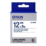 Epson® LabelWorks 1/2 Thermal Transfer Data Cartridge Label; Blue On White (LK-4WLN)
