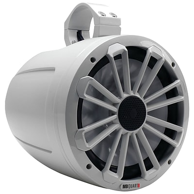 Mb Quart Nt1-120 Nautic Series 2-way Wake Tower Speaker With Dove Gray Finish and Mounting Hardware