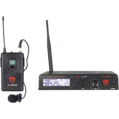 NADY U-1100 LT/O/A UHF 100-Channel Wireless Lavalier Handheld Microphone System