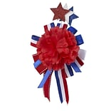 Amscan Convertible Pin or Hair Clip, 7.5 x 4.5, Red/White/Blue, 3/Pack (847277)