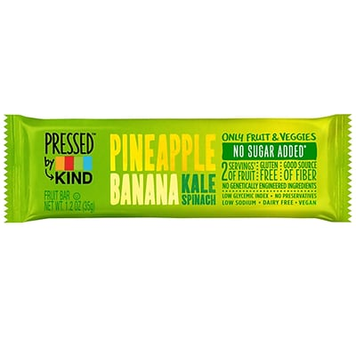 KIND® Pineapple Banana Kale Spinach Pressed Bar, 12/Bx