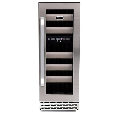 Whynter Elite 17 Bottle Stainless Steel Dual Zone Built-In Wine Refrigerator (BWR-171DS)
