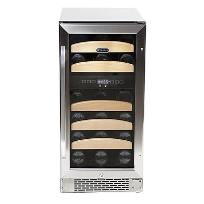 Whynter 28 Bottle Stainless Steel Dual Zone Built-In Wine Refrigerator (BWR-281DZ)