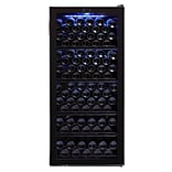 Whynter FWC-1201BB Freestanding 124 Bottle Freestanding Wine Refrigerator