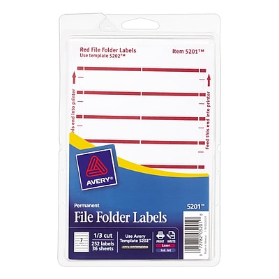 Avery File Folder Dark Red Sheet Labels Quill