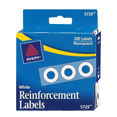 Avery® White Hole Reinforcement Labels