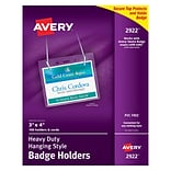 Avery® Badge Holders, 3 x 4, Landscape, Neck Lanyard