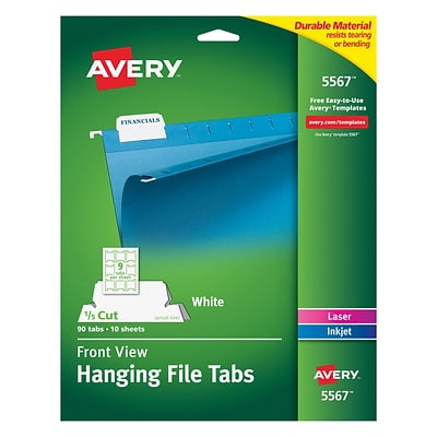 Avery 5567 Hanging File Tabs Quill