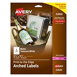 Avery® Print-to-the-Edge Arched Labels 22826