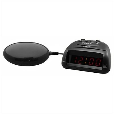 Global Assistive Devices Global 360 Black Vibrating Alarm Clock (HRSC2196)