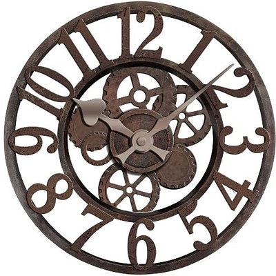 Ashton Sutton  Quartz Analog Wall Clocks with 3D Industrial Gears Style Case (MZBG007)