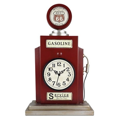Ashton Sutton  Quartz Analog Gas Pump Shaped Table Clock with Metal Case (MZBG019)