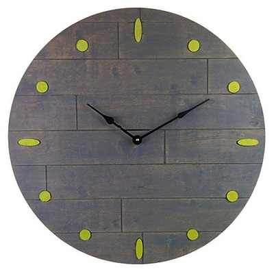 Cray Cray Supply Rustic Gray Clock with Yellow Numeral Marks Large (CRYC079)