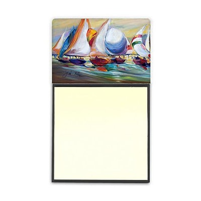 Carolines Treasures  Sailboat Race In Dauphin Island Sticky Note Holder (CRLT69088)