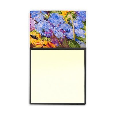 Carolines Treasures  Hydrangeas And Sunflowers Sticky Note Holder (CRLT69238)
