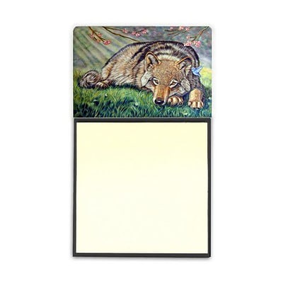 Carolines Treasures  Wolf And Hummingbird Sticky Note Holder (CRLT80571)