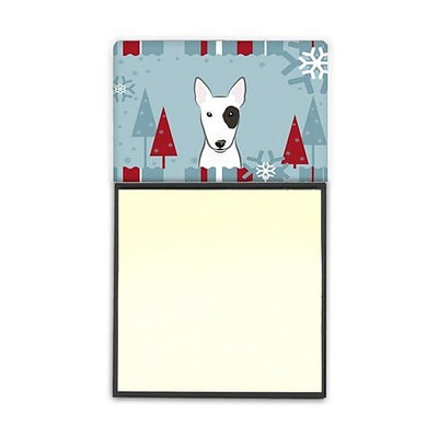 Carolines Treasures  Winter Holiday Bull Terrier Sticky Note Holder (CRLT85137)