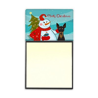 Carolines Treasures  Snowman With Min Pin Sticky Note Holder (CRLT86864)