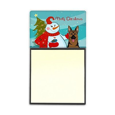 Carolines Treasures  Snowman With German Shepherd Sticky Note Holder (CRLT87163)