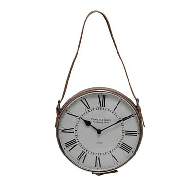 TIC Collection  Minutes Hanging Wall Clock With Leather Strap (IPTC001)