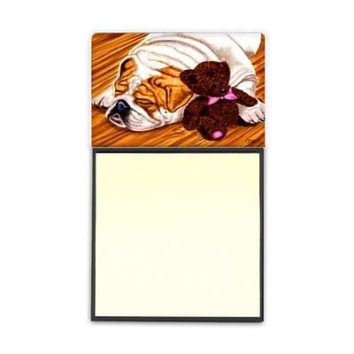 Carolines Treasures  English Bulldog & Teddy Bear Sticky Note Holder (CRLT87550)