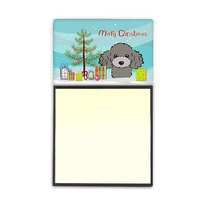 Carolines Treasures  Christmas Tree & Silver Gray Poodle Sticky Note Holder (CRLT88763)