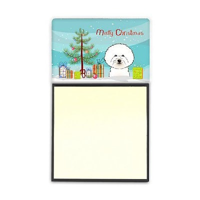 Carolines Treasures  Christmas Tree & Bichon Frise Sticky Note Holder (CRLT89546)